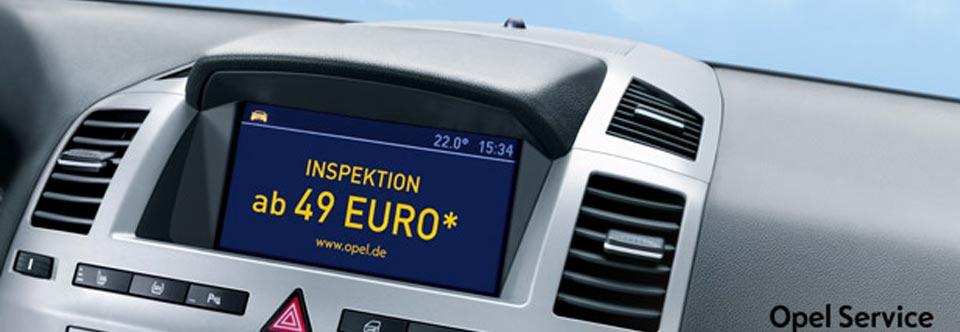 Service Inspektion (Onlineangebot):