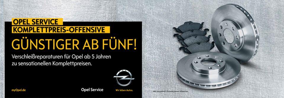 Opel Service Komplettpreis-Offensive: